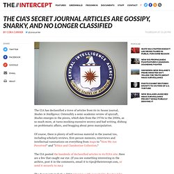 The CIA's Secret Journal Articles Are Gossipy, Snarky, and No Longer Classified