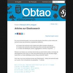Articles sur Elasticsearch