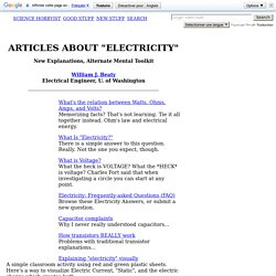 "Articles on ""Electricity"" WJ Beaty"