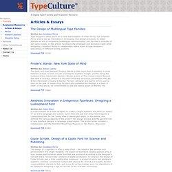 Articles & Essays - TypeCulture®