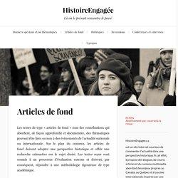 Articles de fond – HistoireEngagée