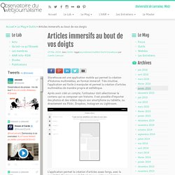 Articles immersifs - smartphone