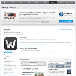 Articles for iPad for iPad on the iTunes App Store