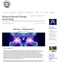 Articles - Kelowna Manual Therapy Clinic - Kelowna Manual Therapy Centre Blog