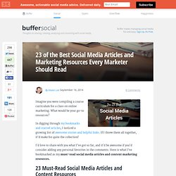 23 of the Best Social Media Articles and Marketing Resources