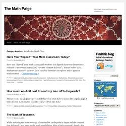 Articles for Math Class