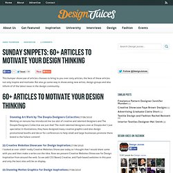 60+ Articles to Motive Your Design Thinking