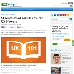 14 Must-Read Articles for the UX Newbie