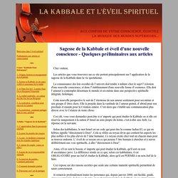 Articles sur la sagesse de la Kabbale et l' éveil d'une nouvelle conscience