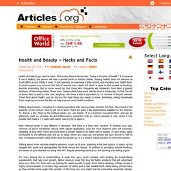 Health and Beauty – Hacks and Facts