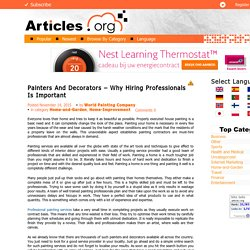 Painters And Decorators – Why Hiring Professionals Is Important