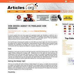 WEB DESIGN AGENCY VS FREELANCE WEB DESIGNERArticles.org