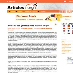 How SMO can generate more business for you