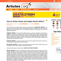 How do Money Market and Capital Market differs? Articles.org
