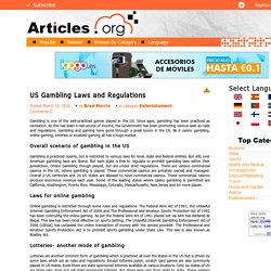 US Gambling Laws and Regulations