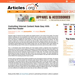 Info About Parental Control Router