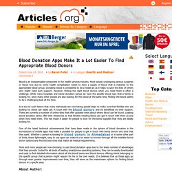 Using App Find Blood Donors Easily
