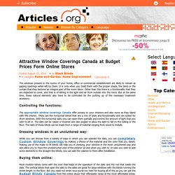 Attractive Window Coverings Canada at Budget Prices Form Online Stores