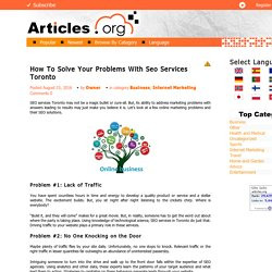 How To Solve Your Problems With Seo Services Toronto