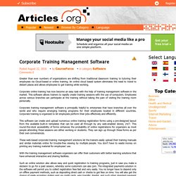 Corporate Training Management Software