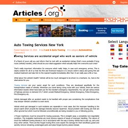 Auto Towing Services New York