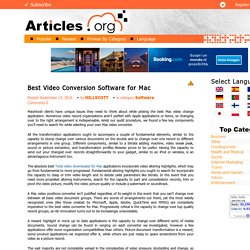Best Video Conversion Software for Mac