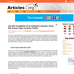 Lay the Foundation of E-commerce Success: Know the Proven Ways to Drive Traffic