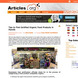 Tips to Find Certified Organic Food Products in Penrith