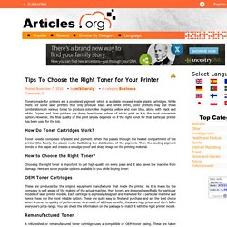 Tips To Choose the Right Toner for Your Printer