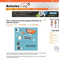 Why is Outsourcing Web Designing Beneficial for Business Owners