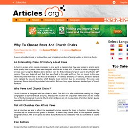 Why To Choose Pews And Church Chairs