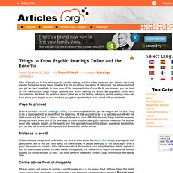 Things to Know Psychic Readings Online and the Benefits