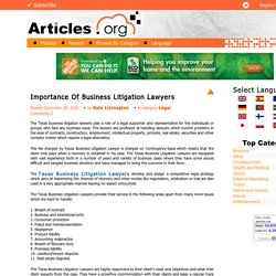 Importance Of Business Litigation Lawyers