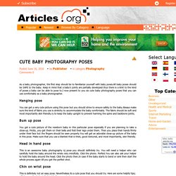 CUTE BABY PHOTOGRAPHY POSES