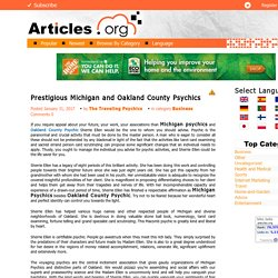 Prestigious Michigan and Oakland County Psychics