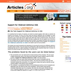 Support for Webroot Antivirus USA