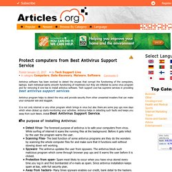Best Antivirus Support Service