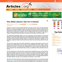 Why Skilled Labourer Jobs Are in Demand