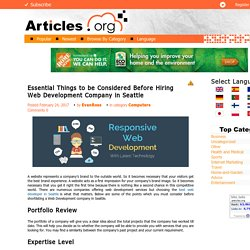 Things to be Considered Before Hiring Web Development Company