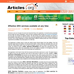 Effective DMV services available at any time