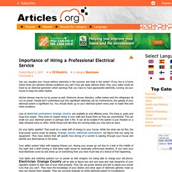 Importance of Hiring a Professional Electrical Service