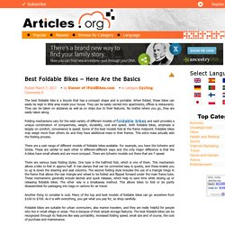 Best Foldable Bikes - Here Are the Basics
