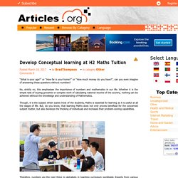 Develop Conceptual learning at H2 Maths Tuition