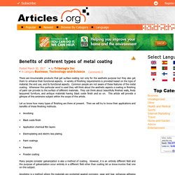 Benefits of different types of metal coating