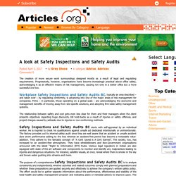 A look at Safety Inspections and Safety Audits