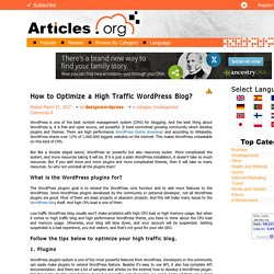 How to Optimize a High Traffic WordPress Blog?