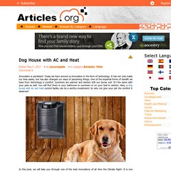 Dog House with AC and Heat