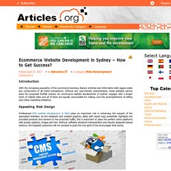 Ecommerce Website Development in Sydney – How to Get Success?