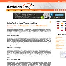 Keep Trucks Sparkling by Using Tech