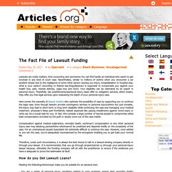 Find the Lawsuit Loans for your Case